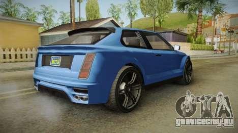 GTA 5 Enus Huntley Coupè для GTA San Andreas вид слева
