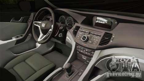 Honda Civic 2017 FC5 для GTA San Andreas вид изнутри