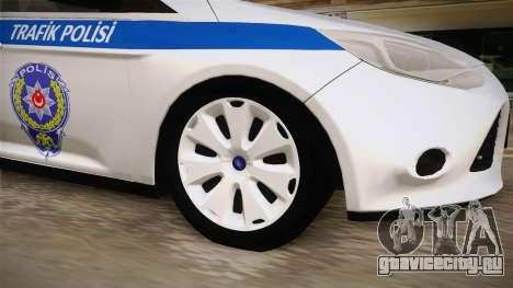 Ford Focus 1.6 Turkish Police для GTA San Andreas вид сзади