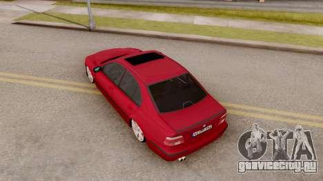 BMW M5 E39 MPOWER для GTA San Andreas вид сзади