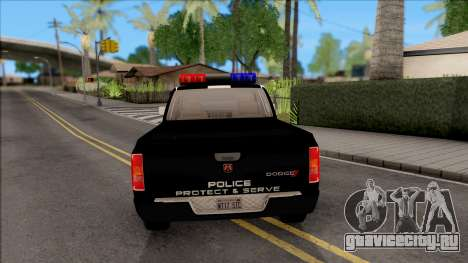 Dodge Ram High Speed Police для GTA San Andreas вид сзади слева