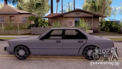 VCS Sentinel для GTA San Andreas вид слева