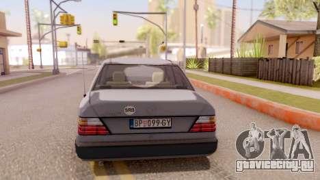 Mercedes Benz W124 для GTA San Andreas вид сзади слева