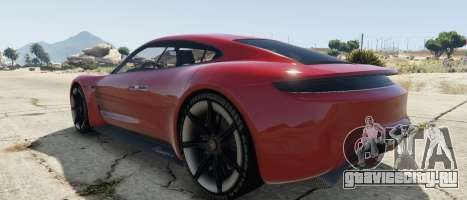 Porsche Mission E 2015 для GTA 5 вид слева