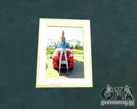 Новые картинки в доме CJ для GTA San Andreas