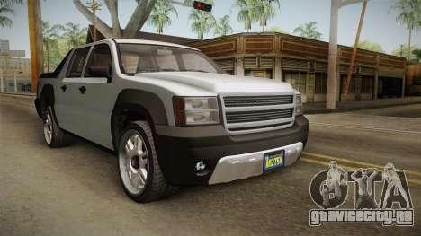 GTA 5 Declasse Granger Pickup для GTA San Andreas вид сзади слева
