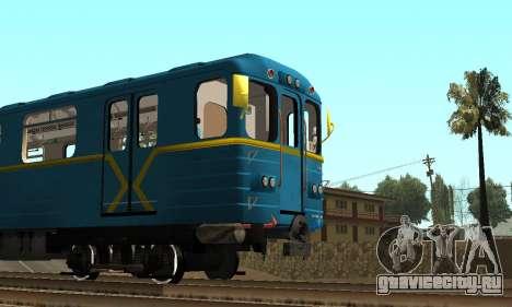 Метросостав типа Ем Киевский для GTA San Andreas вид сзади