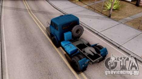 МАЗ 504 для GTA San Andreas вид сзади