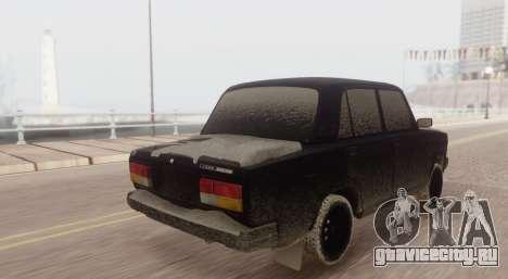 ВАЗ 2107 ЗИМА для GTA San Andreas вид слева