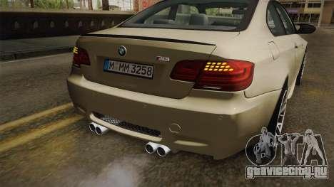 BMW M3 E92 2012 Itasha PJ для GTA San Andreas салон