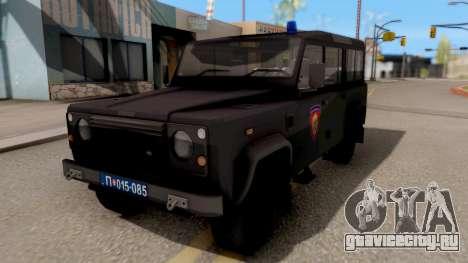 Land Rover Defender Žandarmerija для GTA San Andreas