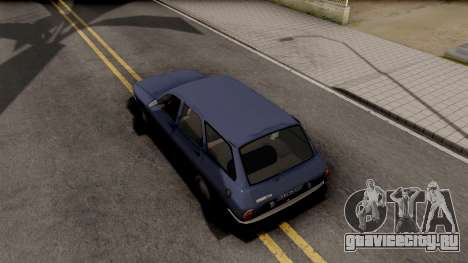 Renault 12 для GTA San Andreas вид сзади