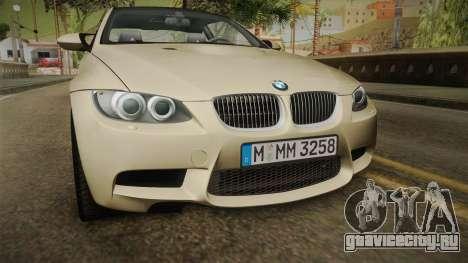 BMW M3 E92 2012 Itasha PJ для GTA San Andreas вид сбоку