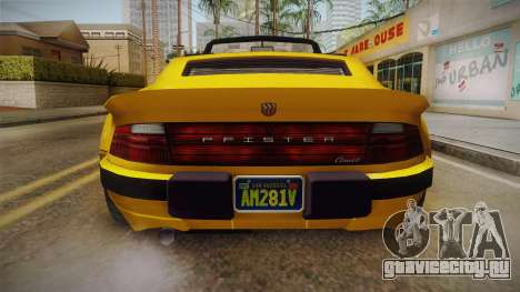 GTA 5 Pfister Comet Retro Cabrio для GTA San Andreas вид изнутри