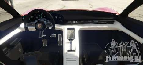 Porsche Mission E 2015 для GTA 5 вид сзади слева