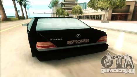 Mercedes-Benz 600 SEL для GTA San Andreas вид сзади