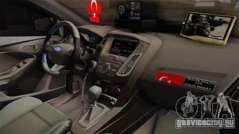 Ford Focus 1.6 Turkish Police для GTA San Andreas вид изнутри