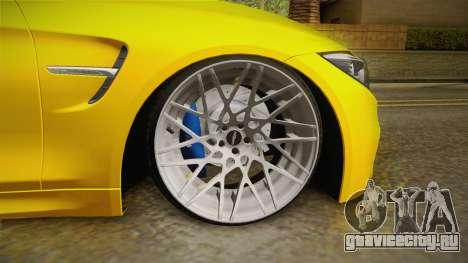 BMW M4 F82 Stance для GTA San Andreas вид сзади