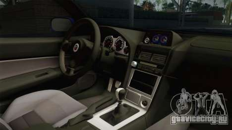 Nissan Skyline GT-R34 Tunable для GTA San Andreas вид изнутри