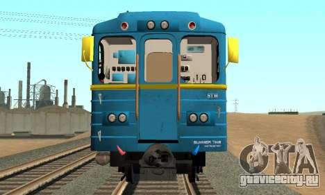 Метросостав типа Ем Киевский для GTA San Andreas вид сзади слева