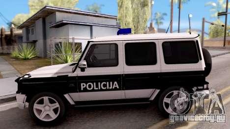 Mercedes-Benz G65 AMG BIH Police Car для GTA San Andreas вид слева