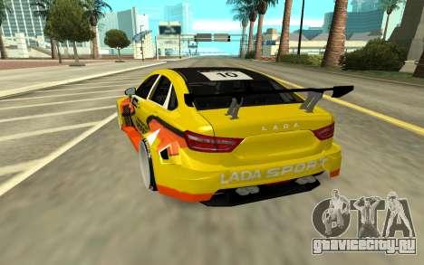 Lada Vesta WTCC для GTA San Andreas вид сзади слева