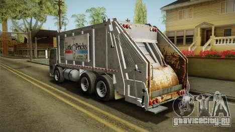 GTA 5 Jobuilt Trashmaster 2 для GTA San Andreas вид сзади слева