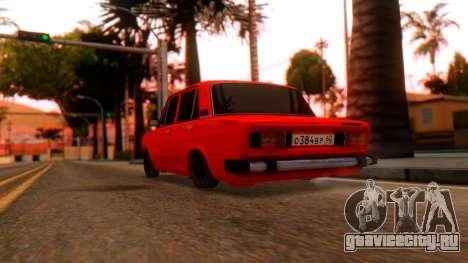 ВАЗ 2106 ШохерИзАда 2.0 GVR для GTA San Andreas вид слева
