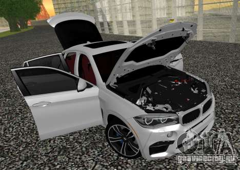 BMW X6M F86 для GTA San Andreas вид сзади