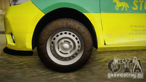 Toyota Vios Sturdy Philippine Taxi 2014 для GTA San Andreas вид сзади