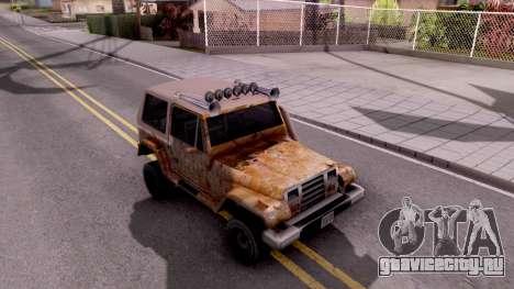 Mesa Off-Road для GTA San Andreas вид снизу