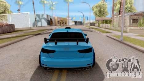 Audi S5 2017 Tuning для GTA San Andreas вид сзади слева