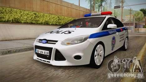 Ford Focus 1.6 Turkish Police для GTA San Andreas вид справа