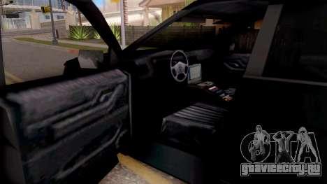 Ford Explorer FBI для GTA San Andreas вид изнутри