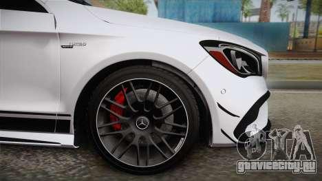 Mercedes-Benz CLA45 AMG 2017 для GTA San Andreas вид сзади слева