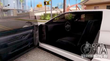 BlueRay's Infernus 911 для GTA San Andreas вид изнутри