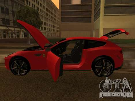 Ferrari FF 2012 Armenian для GTA San Andreas вид сбоку
