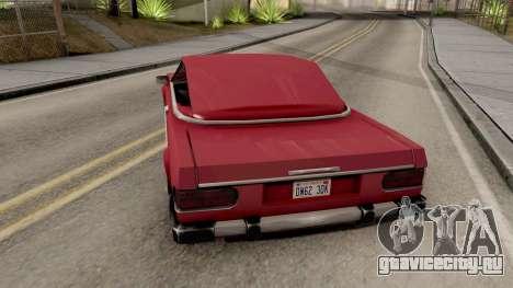 Feltzer with Roof для GTA San Andreas вид сзади слева