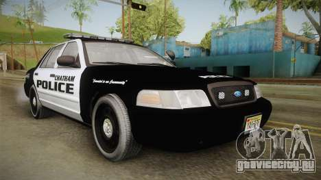 Ford Crown Victoria 2009 Chatham, New Jersey PD для GTA San Andreas вид справа