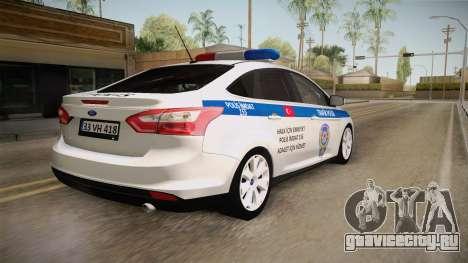 Ford Focus 1.6 Turkish Police для GTA San Andreas вид слева