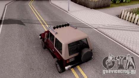 Mesa Off-Road для GTA San Andreas вид сзади