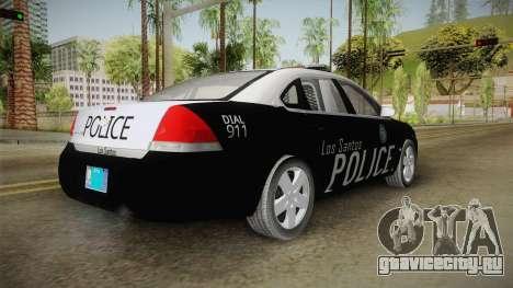 Chevrolet Impala 2009 LSPD для GTA San Andreas вид справа