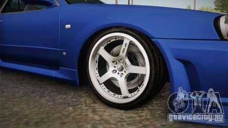 Nissan Skyline GT-R34 Tunable для GTA San Andreas вид сзади