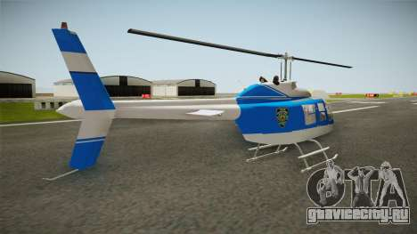Bell 206 NYPD Helicopter для GTA San Andreas вид слева