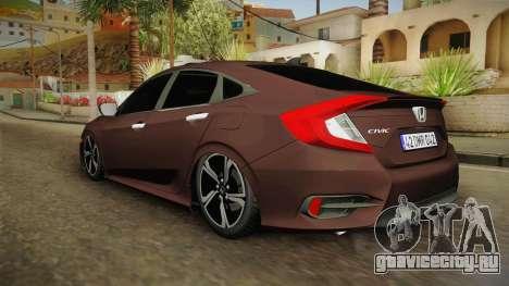 Honda Civic 2017 FC5 для GTA San Andreas вид слева