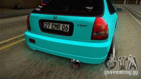 Honda Civic Hatchback для GTA San Andreas вид сбоку