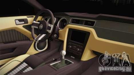 Ford Mustang Rocket JDM для GTA San Andreas вид изнутри