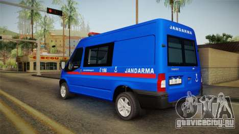 Ford Transit Turkish Gendarmerie для GTA San Andreas вид слева