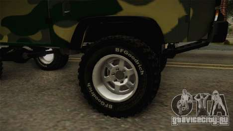 УАЗ-452 Буханка Off Road для GTA San Andreas вид сзади