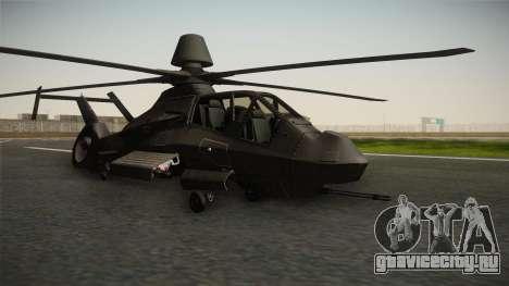 RAH-66 Comanche для GTA San Andreas вид сзади слева